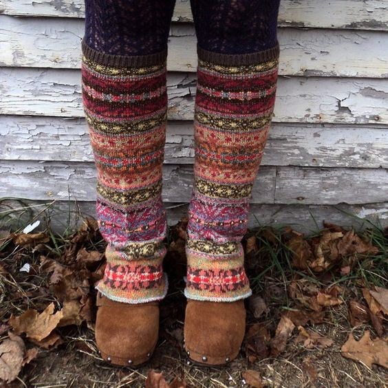 leg warmers from sweater sleeves