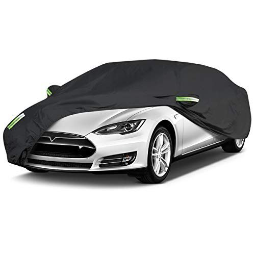 Eluto Sedan Car Cover Waterproof All Weather Outdoor Car Covers Uv Protection Windproof Black Full Car Cover For Sedan Fits Up To In 2020 Waterproof Car Car Covers Car