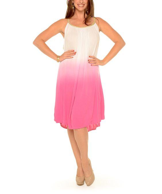 Look what I found on #zulily! Shoreline Pink Ombré Yoke Dress - Plus by Shoreline #zulilyfinds