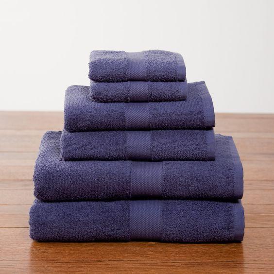 Navy Six-Piece Cotton Towel Set - $25.90