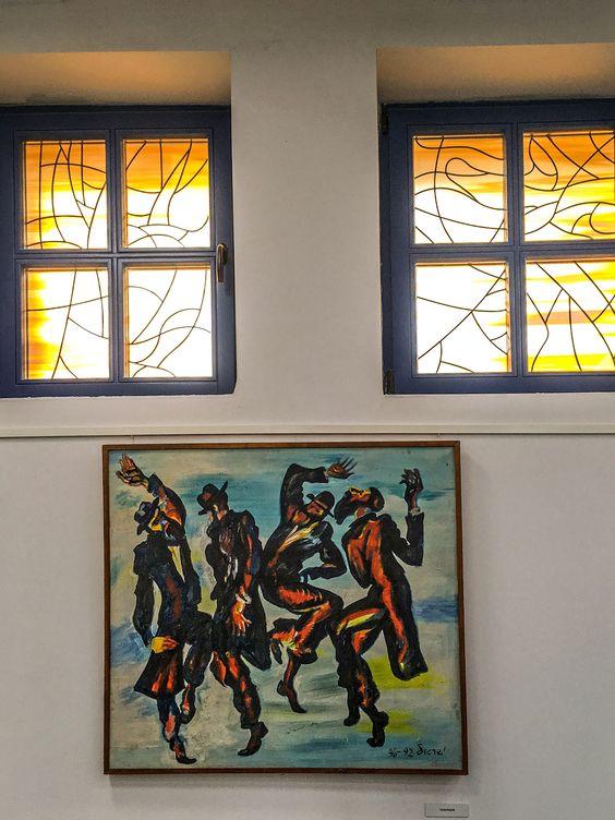 Выставка творчества Израила Гершбурга в новой синагоге. Фото Жени Шведы