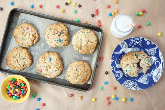 Peanut Butter Pretzel M&M Cookies