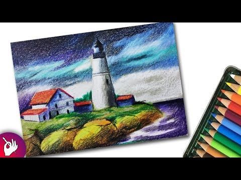 Art And Sketch Youtube Landscape Sketch Oil Pastel Drawings