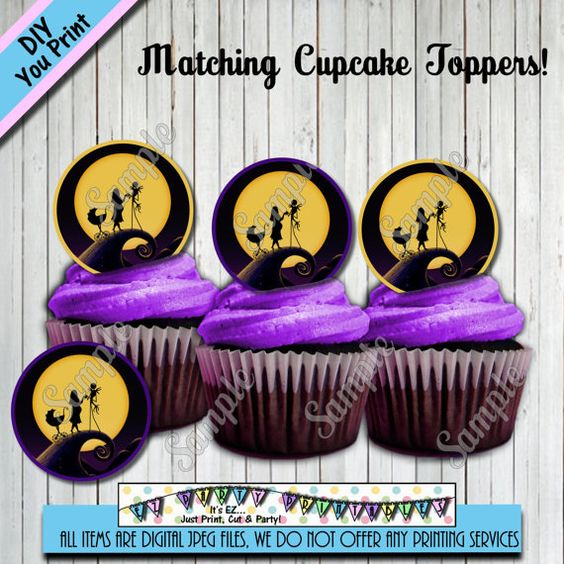 nightmare before christmas baby shower cupcake toppers other party