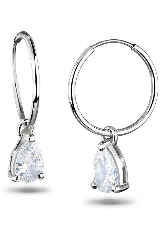 Elli Ohrringe »Creolen mit Anhänger 925er Silber« für 29,90€. Elegante Ohrringe aus 925er Sterling Silber bei OTTO