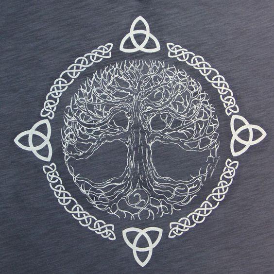 En primer lugar , debo explicar de qué se trata . Este es el árbol de la vida céltico . Simboliza el equilibrio y la armonía. Me encanta el elemento de líneas utiliza este diseño . Los nudos celtas y ramas en el árbol crean un flujo . Además, este diseño muestra el elemento de tiempo. Esto demuestra que el paso del tiempo , el árbol ha permanecido igual , sino que también se ha modificado un poco