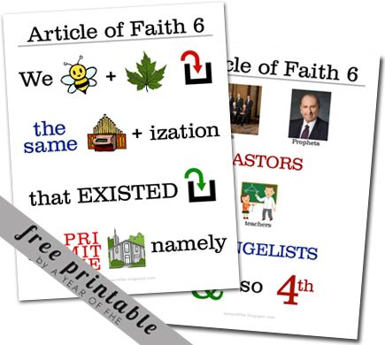 Article Of Faith 6 Memorization Poster A Year Of FHE Family Home Evening