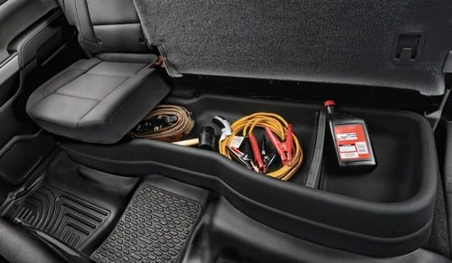 Husky Liners Under Seat Storage Gearbox For 2014 2018 Gm Silverado Sierra 1500 2015 2019 2500 3500hd Crew Cab 09031 Husky Liners Chevy Avalanche Truck Storage