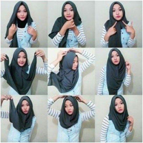 Model Hijab Segi Empat Remaja