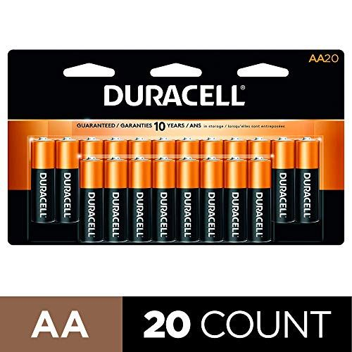 Duracell Coppertop Aa Alkaline Batteries Long Lasting All Purpose Double A Battery For Household And Business 20 Cou Duracell Alkaline Battery Batteries