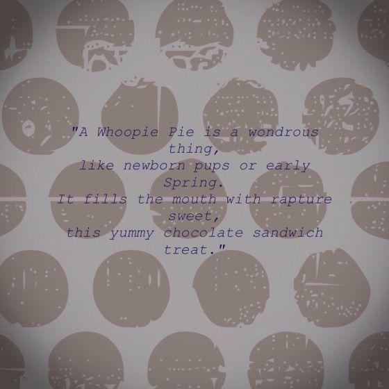Pumpkin Whoopie Pie Cookies - Faith, Hope, Love, & Luck Survive Despite a Whiskered Accomplice - #Pumpkin #Whoopie #Pie #Cookies #Cream_Cheese #Butter #Cinnamon #Crisco #Poem #Retro #Dessert #Bengal #Cat
