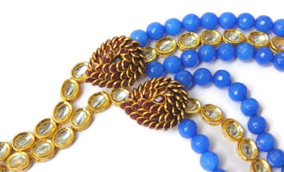 Handmade Multilayer Necklace with Blue Stone by ArmCandyForYou, $60.00