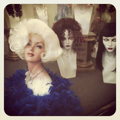 Hollywood wigs.