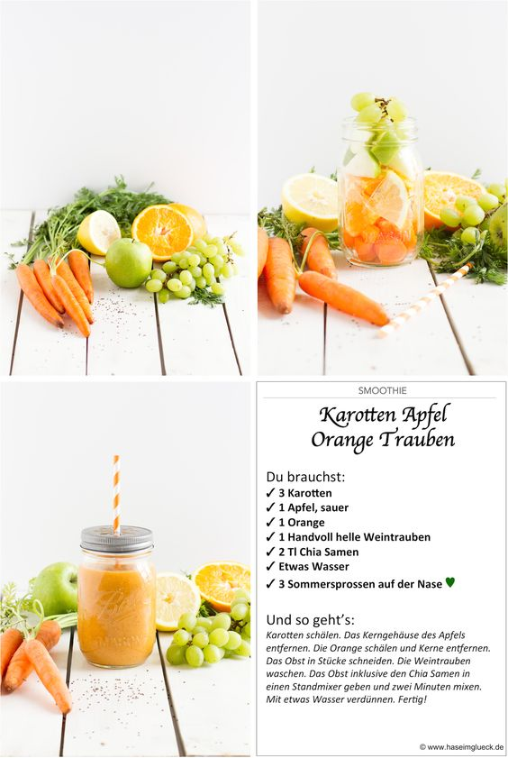 haseimglueck.de Rezept, Smoothie Karotten Apfel Orange 1