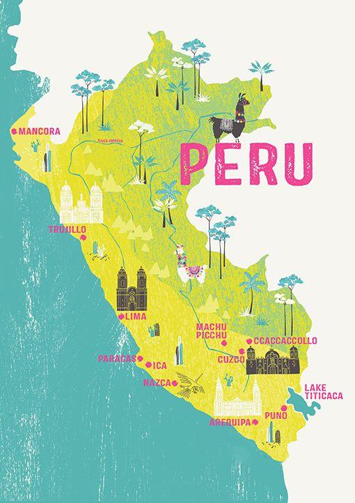 Perumapmelsmithdesigns Gift Ideas Pinterest Peru - Peru map