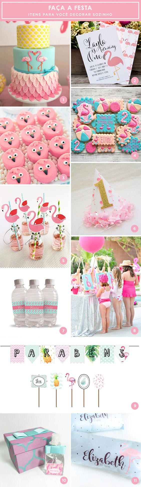 Separamos itens lindos e inspiradores para os pais que estão pensando na festinha das pequenas. Vem ver várias ideias de flamingos: