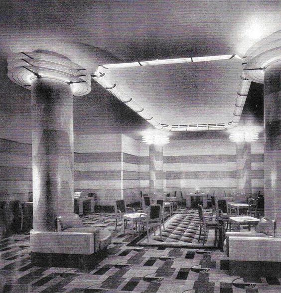 Art deco hotels and interiors on pinterest for Architecture 1930