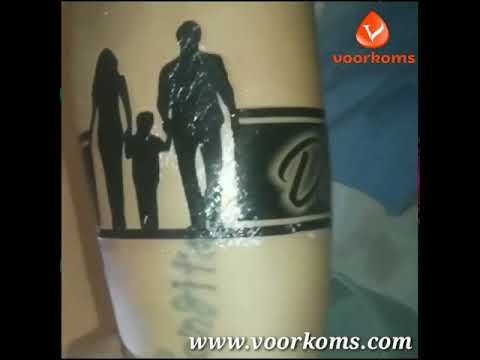 Voorkoms Mom Dad Hand Band Tribal For Men And Women Temporary Tattoo In 2020 Mom Dad Tattoo Designs Dad Tattoos Band Tattoo Designs