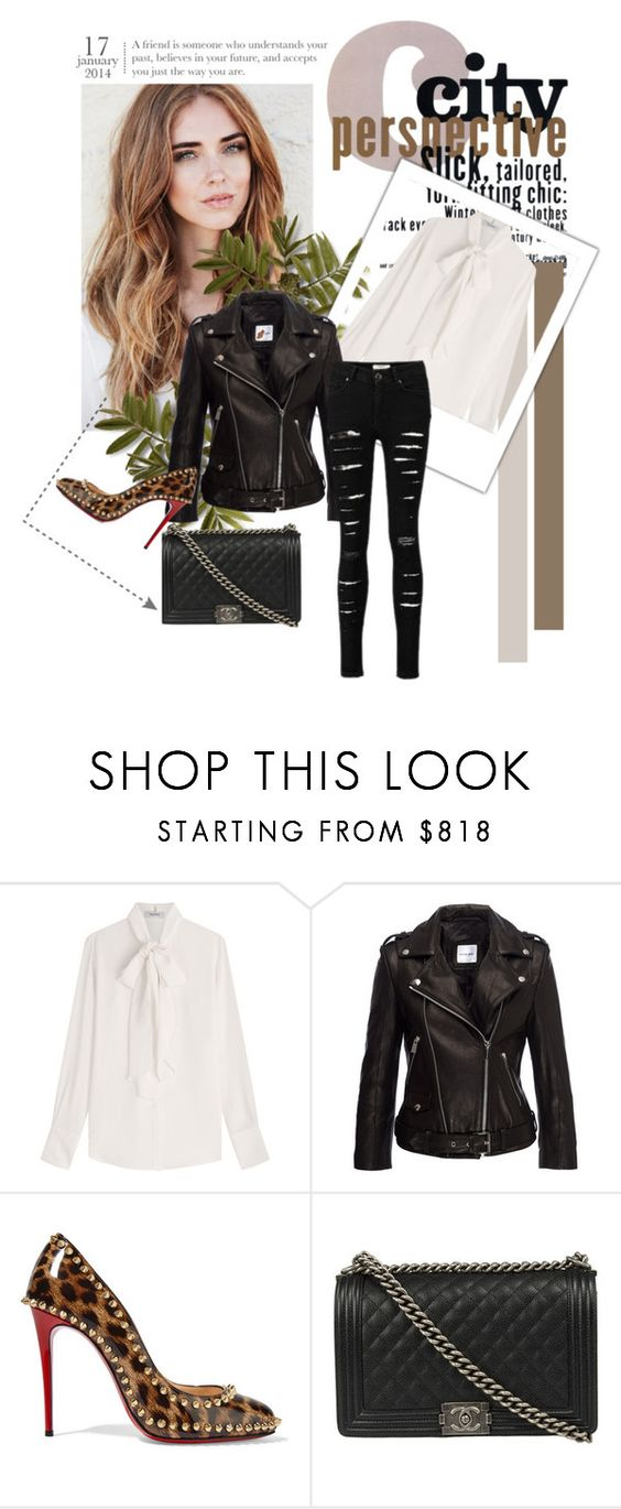 """""""Untitled #484"""" by missozlems ❤ liked on Polyvore featuring Valentino, Christian Louboutin and Chanel"""