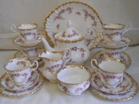 Royal Albert Dimity Rose Tea Service Exquisite Royal Albert Dimity Rose A Very Rare And Superb Tea Service From Tea Set China Patterns Rose Teapot