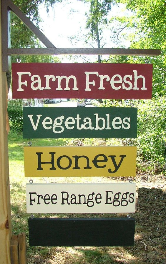 Your Own CUSTOM Farm Stand Sign Farmer's Market  by GreenChickens...cute idea for a sign with the name of our little farm...