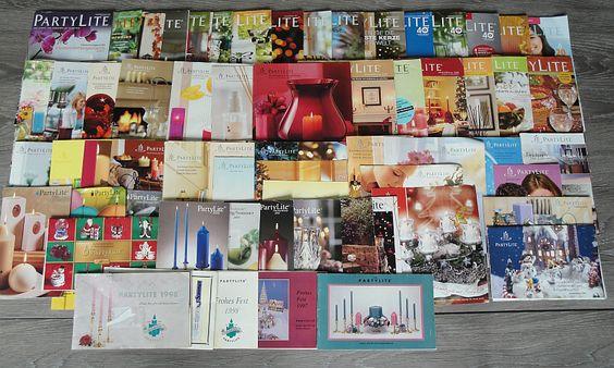 1997-2014 - 17 Jahre PartyLite - 50+ Kataloge