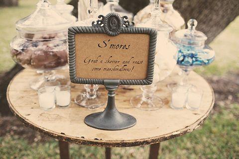 Have Some More S'mores on itsabrideslife.com #wedding #weddingsmores #smores  #s'mores  #weddingsweets #outdoorweddingideas #weddingdesserts