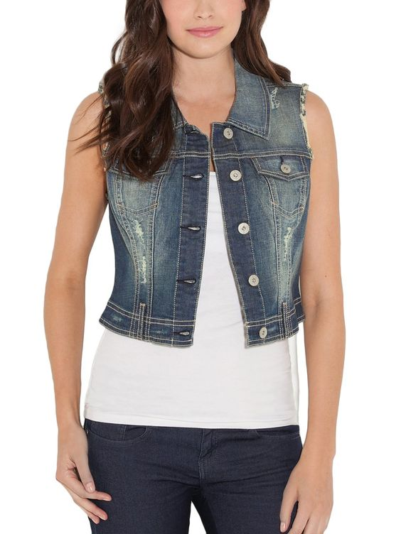 Sleeveless jean vest (small) @ amazon $50.00