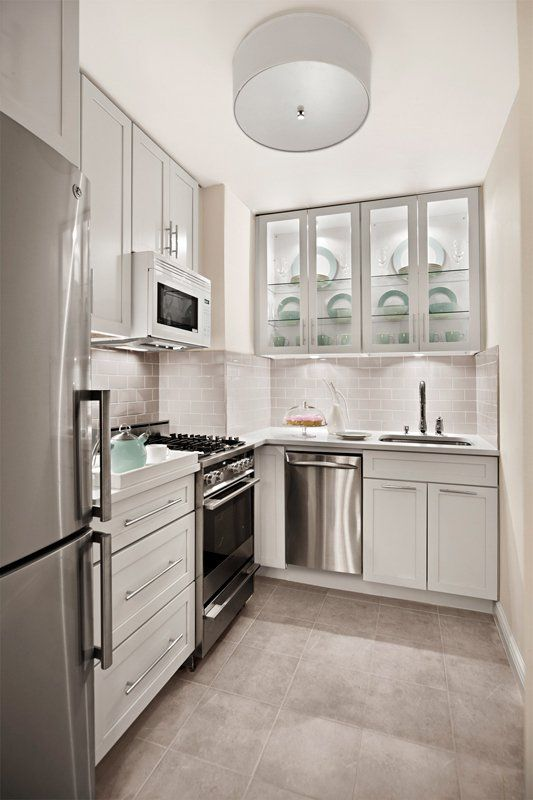 The Design Of A Small Kitchen Without Window Check More At Https Hdinterior Info P 921 Small Kitchen Inspiration Small White Kitchens Tiny Kitchen Design