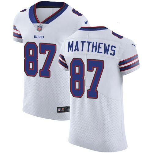 Nike Bills #87 Jordan Matthews White Men's Stitched NFL Vapor ...