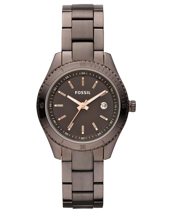 Fossil Watch, Women's Brown Ion Plated Stainless Steel Bracelet