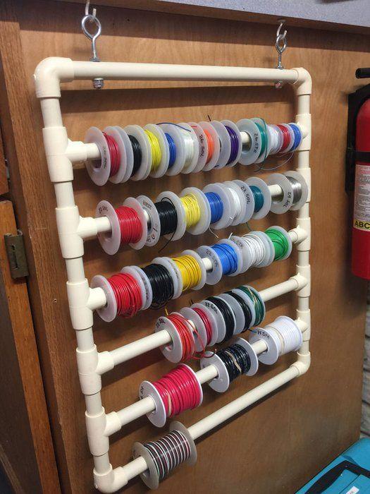 Wire Spool Rack Diy : spool, Spool, Projects