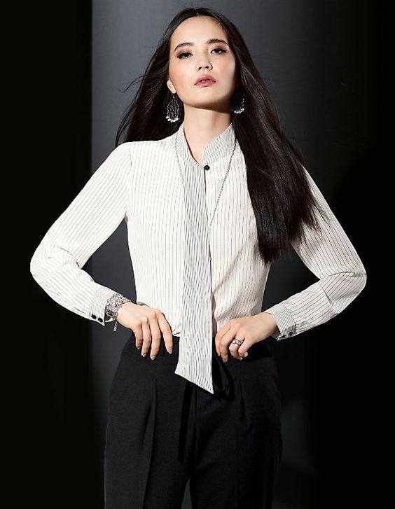 Blouse, pure silk | Madeleine Fashion