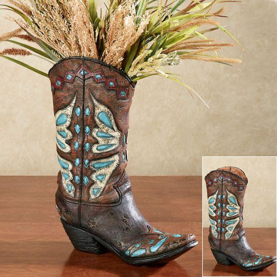 Cowboy Boot Shaped Vase Cowboy Boots Boots And Cowboys