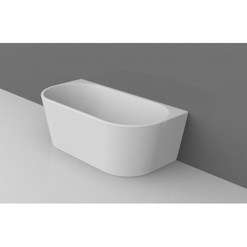 WHALE Back To Wall Wall Faced Bathroom Freestanding Acrylic BathTub 1500MM