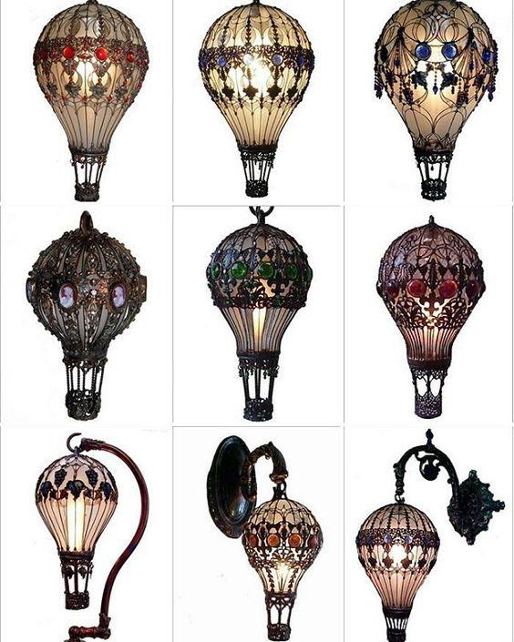 Baroque Hot Air Baloon Light Bulbs #steampunktendencies #steampunk #diy…