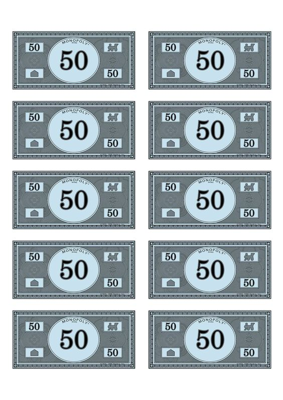 It's just an image of Transformative Monopoly Money Printable