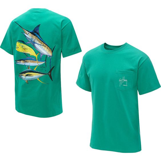 Guy harvey men 39 s foursome offshore short sleeve t shirt for Offshore fishing apparel