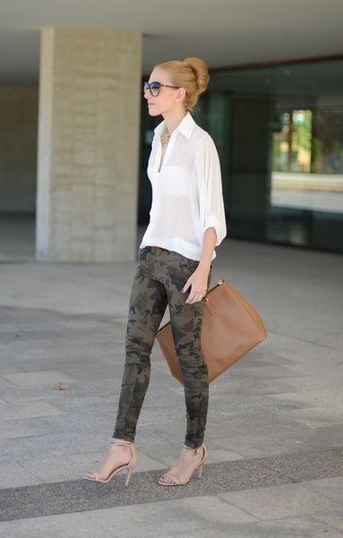 Army style with a Prada purse