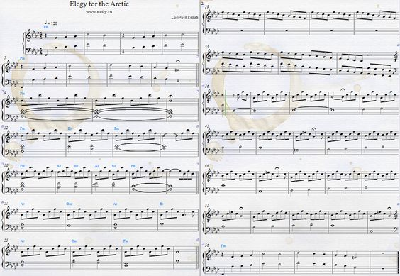 Ludovico Einaudi — Elegy for the Arctic Download PDF Piano Sheet Music Greenpeace