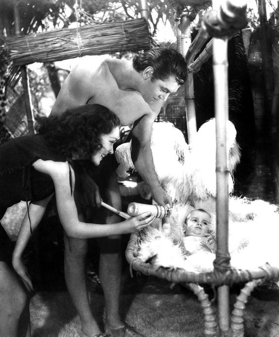 MAUREEN O'SULLIVAN and JOHNNY WEISSMULLER from 'Tarzan Finds a Son!' 1939