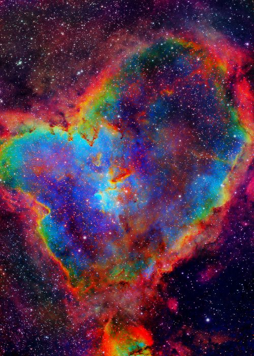 Heart nebula. To Gina B.  From your Pinterests, You've shown your Soul. Our grounded Souls have echoes in Space. This is how I'd imagine your Space Soul to be...