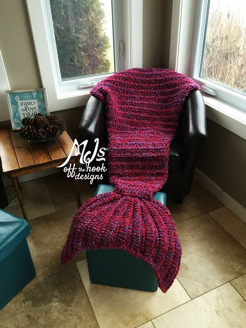 Mermaid Crochet Tail Blanket Free Patterns: