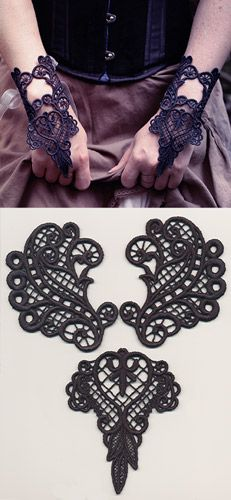 Dark Adornments - Cuff Bracelet (Lace) | Urban Threads: Unique and Awesome Embroidery Designs