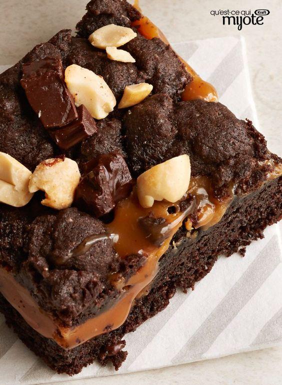 Barres au chocolat et au caramel #recette