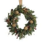 "Indoor or Outdoor Battery Operated 24"" Pre-lit LED Christmas wreaths Cones and Berries. Celebrate the warmth of the holidays by decorating your home with an elegant assortment of Christmas wreath and garland. Check out our top 10 for 2015."