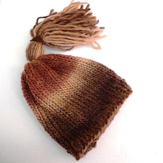 Newborn Knitted Pixie Hat  Brown £4.00