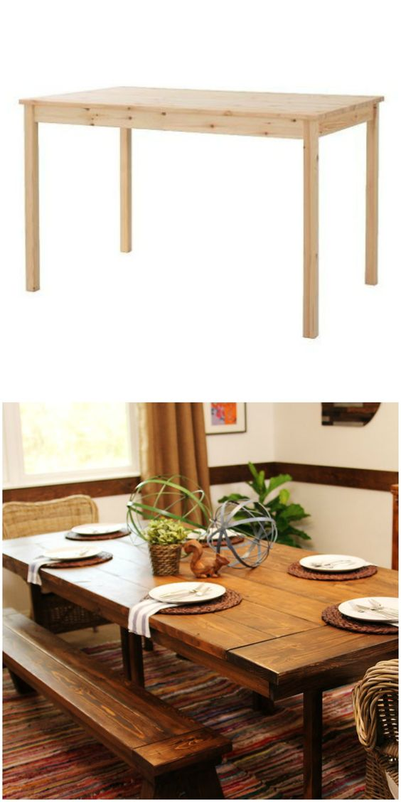 Pinterest the world s catalog of ideas - Ikea rustic dining table ...