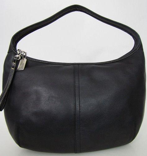 Coach Black Leather Ergo Shoulder Bag 9219. Starting at $25 on Tophatter.com!