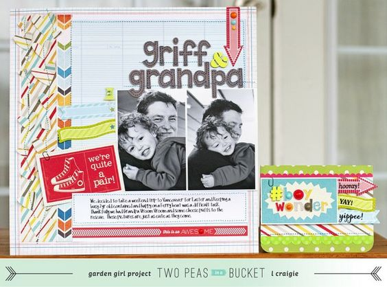 Seeing Double layout + card video by @Laura Jayson Craigie : Griff & Grandpa - Two Peas in a Bucket